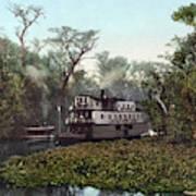 Florida Steamboat, C1902 Art Print