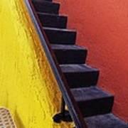 Florida Yellow And Orange Wall Stairs Art Print