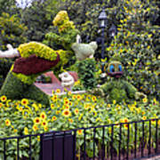 Flower And Garden Signage Walt Disney World Art Print