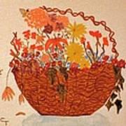 Flower Basket Art Print