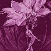 Flower Bomb One Reticulation Art Print