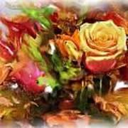 Flower Bouquet Greetings Art Print