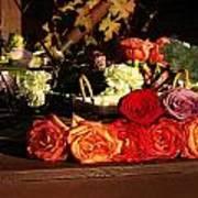 Flower Cart Art Print