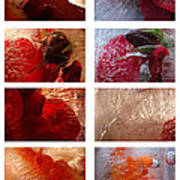 Flower Collage Vertical Art Print