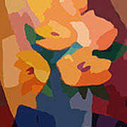 Flower Deco I Print by Lutz Baar