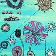 Flower Fever Art Print