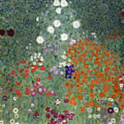 Flower Garden Art Print by Gustav Klimt