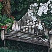 Flower Garden Seat Art Print