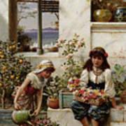 Flower Girls Art Print