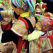 Flower Hmong Baby 03 Art Print