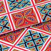 Flower Hmong Embroidery 02 Art Print