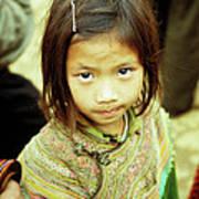 Flower Hmong Girl 02 Art Print