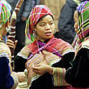 Flower Hmong Women Art Print by Rick Piper Photography