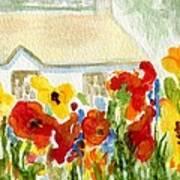 Flower House Art Print