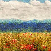 Flower - Landscape - Fragrant Valley Art Print by Mike Savad