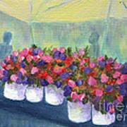 Flower Market Art Print