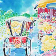 Flower Market  In Chiang Mai Art Print
