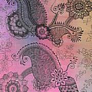 Flower N Leaves Art Print