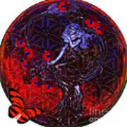 Flower Of Life Nouveau  Art Print