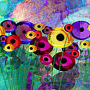 Flower Power Abstract Art  Art Print