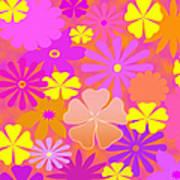 Flower Power Pastels Design Art Print