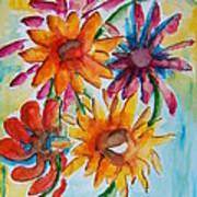 Flower Splash Art Print