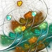 Flower Wind Art Print
