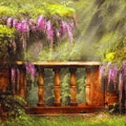 Flower - Wisteria - A Lovers View Art Print by Mike Savad