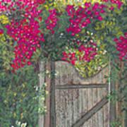 Flowering Gateway Art Print