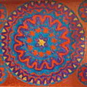 Flowering Waves Tray Art Print