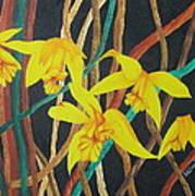 Flowers A Flame Art Print