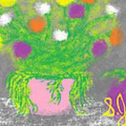 Flowers And Fruit Art Print by Joe Dillon