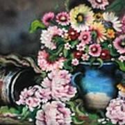 Flowers And Vase Art Print