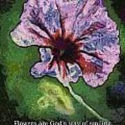 Flowers Are Gods Way 04 Art Print