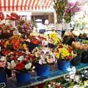 Flowers At The Market Art Print