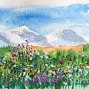 Flowers At Wolf Creek Art Print