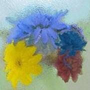 Flowers Behind Glass Art Print