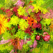 Flowers By The Brush Art Print