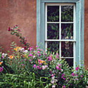 Flowers By The Window Art Print