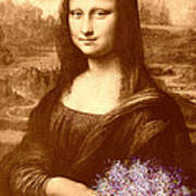 Flowers For Mona Lisa Art Print