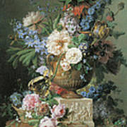 Flowers In An Alabaster Vase Art Print