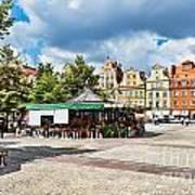 Flowers In Salt Square - Wroclaw Poland Art Print