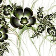 Flowers In The Antique Look Art Print