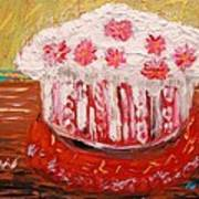 Flowers In The Frosting Art Print