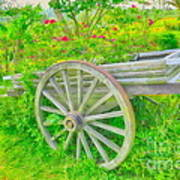 Flowers In A Wagon Art Print