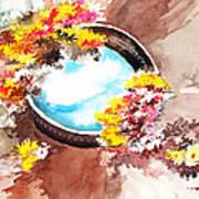 Flowers n sky Art Print