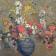 Flowers Art Print by Odilon Redon
