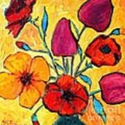 Flowers Of Love Art Print by Ana Maria Edulescu