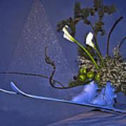 Flowers On Skis Art Print
