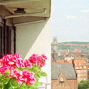 Flowers On The Balcony Art Print by Jeff Kolker
